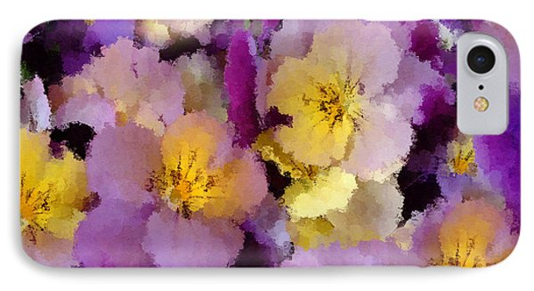 Sugared Pansies IPhone Case by Georgiana Romanovna