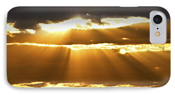 Sun Rays At Sunset Sky Phone Case by Elena Elisseeva