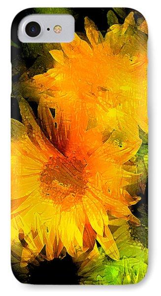 Sunflower 2 Phone Case by Pamela Cooper