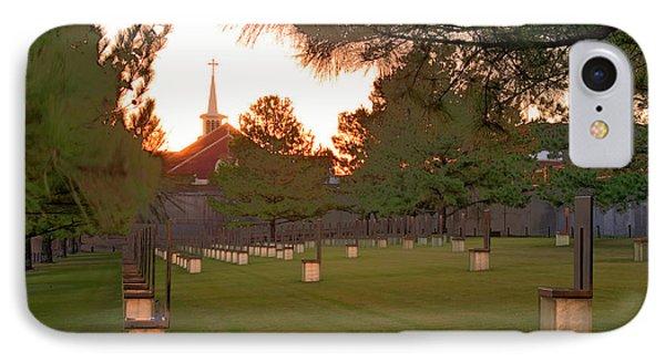 Sunrise At The Alfred P Murrah Memorial II Phone Case by Tamyra Ayles