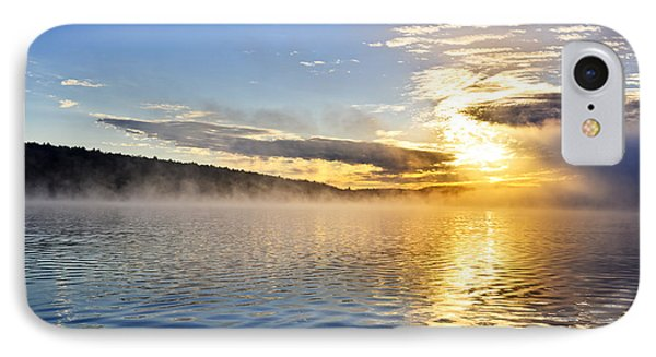 Sunrise On Foggy Lake IPhone Case by Elena Elisseeva