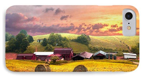 Sunrise Pastures Phone Case by Debra and Dave Vanderlaan
