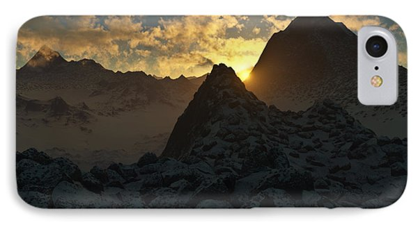 Sunset In The Stony Mountains Phone Case by Hakon Soreide