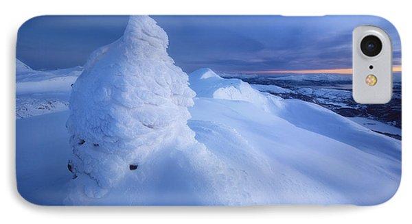 Sunset On The Summit Toviktinden IPhone Case by Arild Heitmann