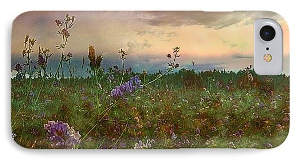 Sunset Over Meadow Phone Case by Shirley Sirois