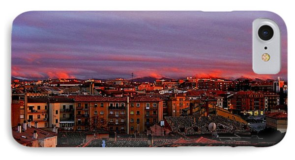Sunset Over Segovia ... Phone Case by Juergen Weiss