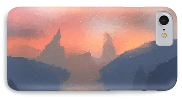 Sunset Valley  Phone Case by Pixel  Chimp