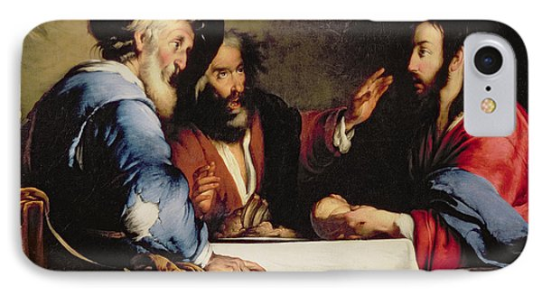Supper At Emmaus Phone Case by Bernardo Strozzi