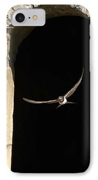 Swallow In Flight Phone Case by John Short