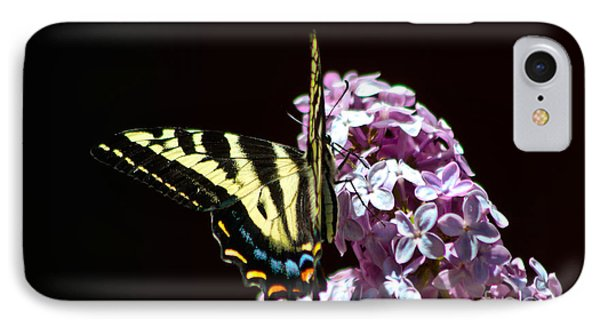 Swallowtail On Lilac 3 Phone Case by Mitch Shindelbower