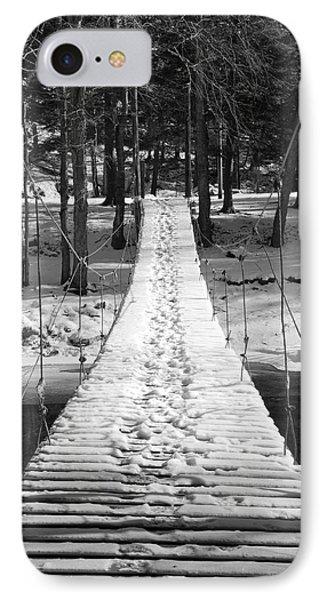 Swinging Cable Foot Bridge Phone Case by John Stephens