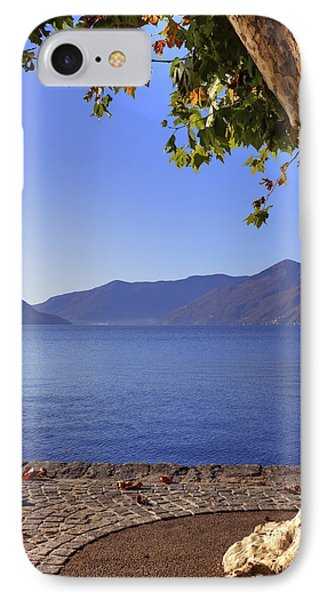 sycamore tree at the Lake Maggiore Phone Case by Joana Kruse