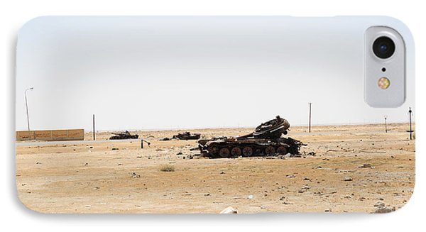 T-55 Tanks Destroyed By Nato Forces Phone Case by Andrew Chittock