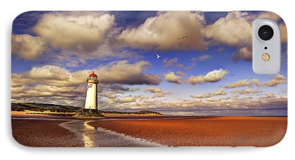Talacre Lighthouse IPhone Case by Mal Bray