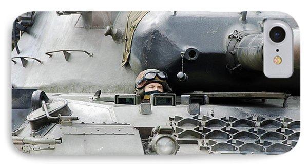 Tank Driver Of A Belgian Leopard 1a5 Phone Case by Luc De Jaeger