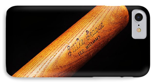 Ted Williams Little League Baseball Bat IPhone Case by Andee Design