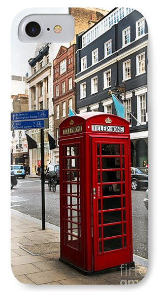 Telephone Box In London Phone Case by Elena Elisseeva