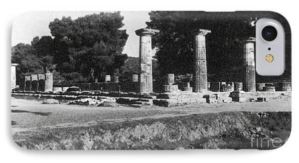 Temple Of Zeus, Olympia, Greece IPhone Case by Photo Researchers