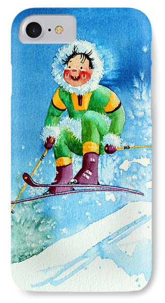 The Aerial Skier - 9 Phone Case by Hanne Lore Koehler