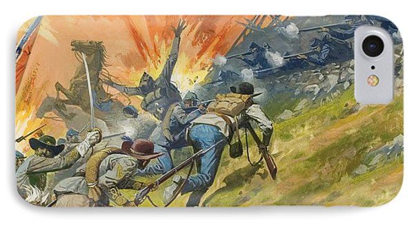 The Battle Of Gettysburg IPhone Case by Severino Baraldi