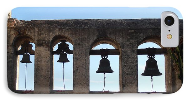 The Bells At The San Juan Capistrano Mission Phone Case by Pat Cannon