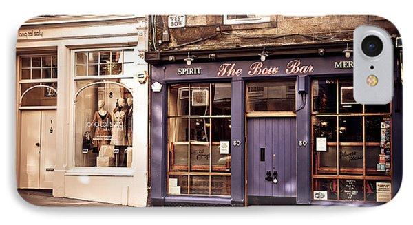 The Bow Bar. Edinburgh. Scotland Phone Case by Jenny Rainbow