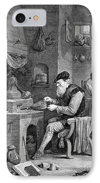 The Chemist, 17th Century Phone Case by Science Source