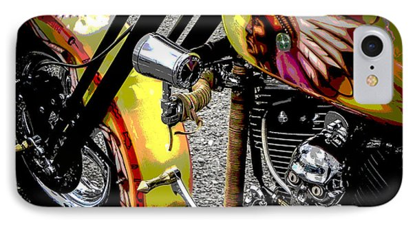 The Chief Rides Phone Case by Chuck Re