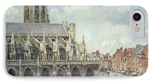 The Church Of Saint Jacques In Dieppe Phone Case by Camille Pissarro