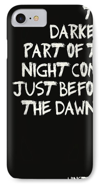 The Darkest Part Of The Night Phone Case by Georgia Fowler