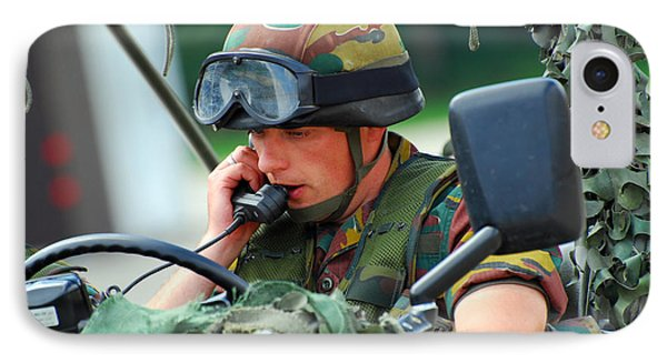 The Driver Of A Mortar Section Phone Case by Luc De Jaeger