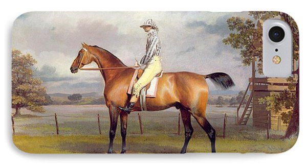 The Duke Of Hamilton's Disguise With Jockey Up Phone Case by George Garrard