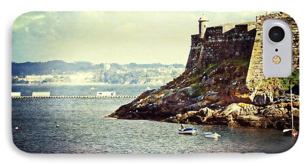 The Fort On The Harbor - La Coruna IPhone Case by Mary Machare