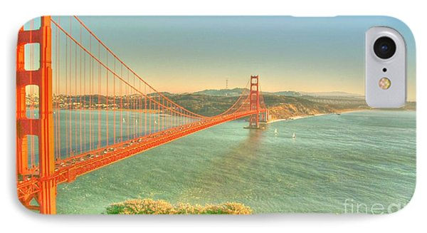 The Golden Gate Bridge  Fall Season IPhone Case by Alberta Brown Buller
