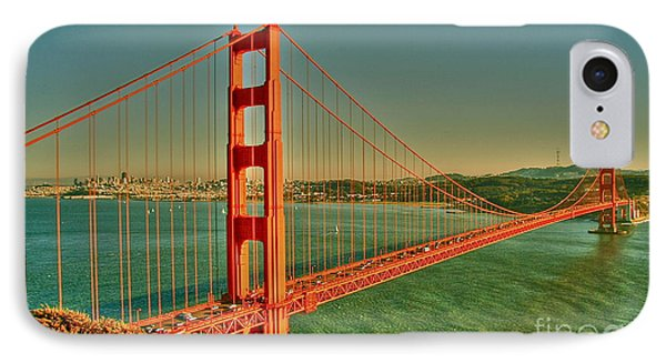 The Golden Gate Bridge Summer IPhone Case by Alberta Brown Buller