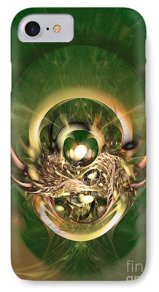 The Hidden Ancestor - Abstract Digital Art IPhone Case by Sipo Liimatainen