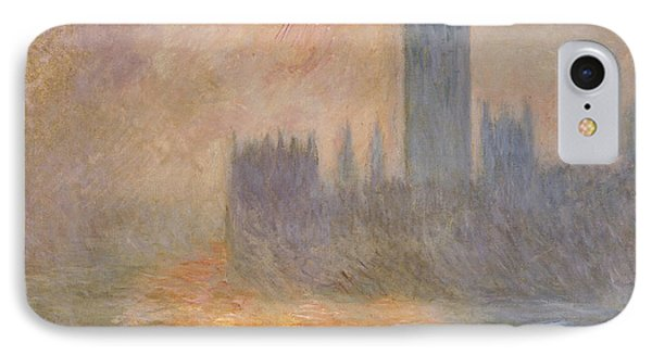 The Houses Of Parliament At Sunset IPhone 7 Case by Claude Monet