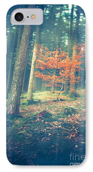 The Little Red Tree - Vintage Phone Case by Hannes Cmarits