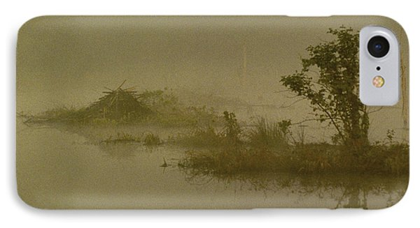 The Lodge In The Mist IPhone Case by Skip Willits