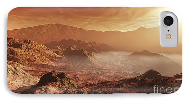 The Martian Sun Sets Over The High Phone Case by Steven Hobbs