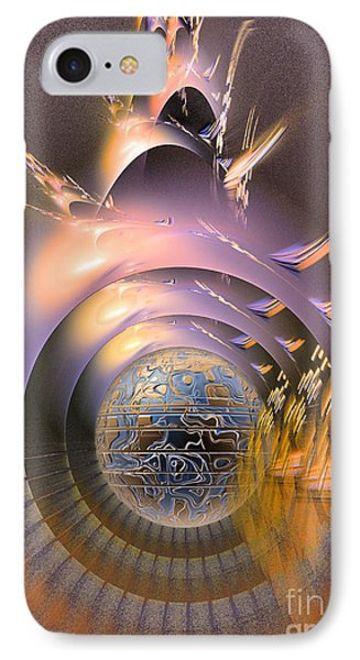 The Message - Fractal Art IPhone Case by Sipo Liimatainen