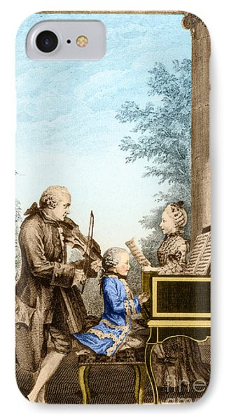 The Mozart Family On Tour 1763 Phone Case by Photo Researchers