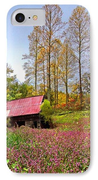 The Old Barn At Grandpas Farm Phone Case by Debra and Dave Vanderlaan
