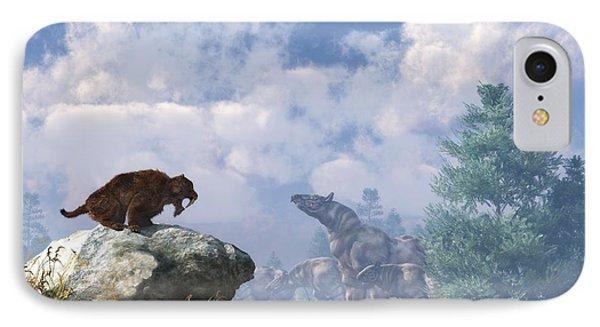 The Paraceratherium Migration IPhone Case by Daniel Eskridge