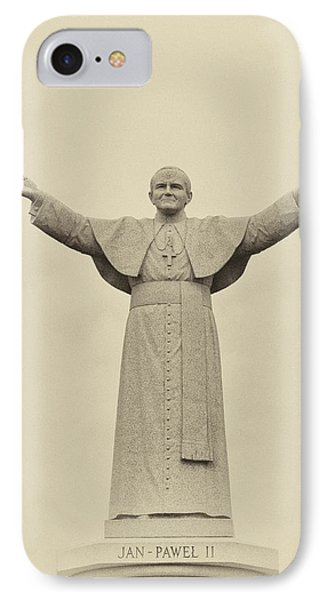 The People's Pope - John Paul II IPhone Case by Bill Cannon