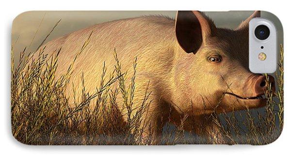 The Pink Pig Phone Case by Daniel Eskridge