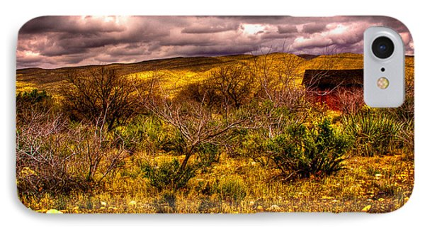 The Red Shed At Red Rock Canyon Phone Case by David Patterson