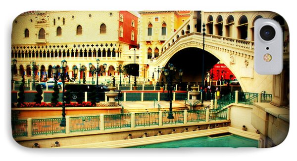 The Rialto Bridge Of Venice In Las Vegas Phone Case by Susanne Van Hulst