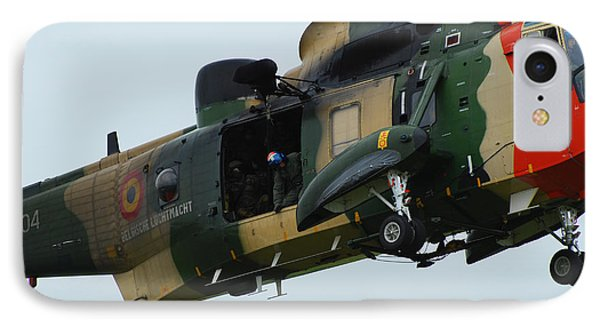 The Sea King Helicopter In Use Phone Case by Luc De Jaeger