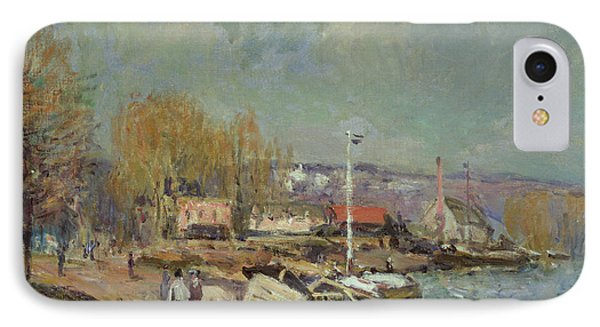 The Seine At Port-marly IPhone Case by Alfred Sisley